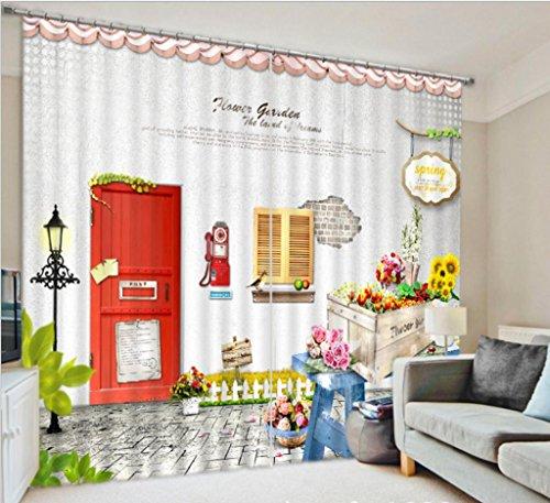 GYMNLJY Oggettistica per la casa stampa stoffa spessa cortina 3D