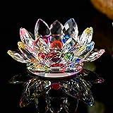 7 Farben Kristallglas Lotus Blume Kerze Teelichthalter Buddhistischen Kerzenhalter Dekoration