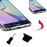 4x profesional––Tapón antipolvo para Samsung Galaxy S4Mini–Conector Micro USB/entrada de auriculares negro