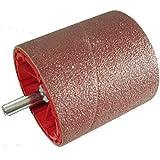 Schleifwalze incl. Schleifband als Bohrmaschinenvorsatz / Durchmesser 75 mm, Schleifbandbreite 80 mm