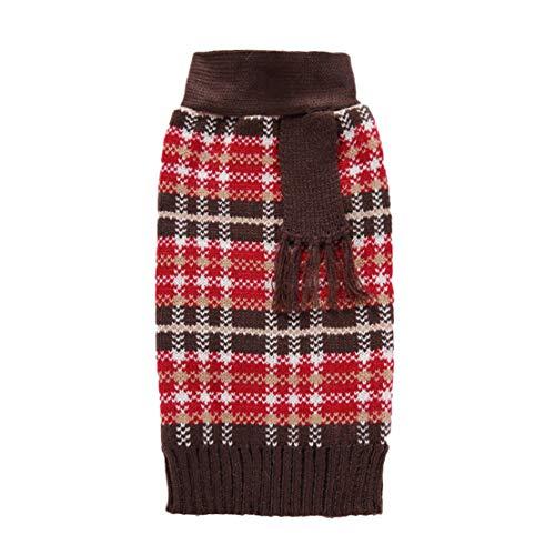 Dobbi Pet Costume Haustier Hunde Warme Sweater Herbst Winter Hundepullover Dog Cute Stricke Pullover Welpen Dicke Outwear Hundemantel Puppy Komfortabel Kostüme Dog Kleidung Hundebekleidung