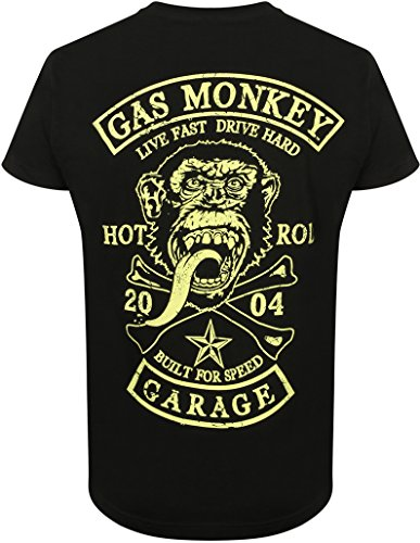Gas Monkey Garage T-Shirt Patch, Color:black;Größe:M