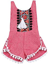 Koly 0-2 años Unisex Kid Baby Floral sin mangas Romper Jumpsuit trajes