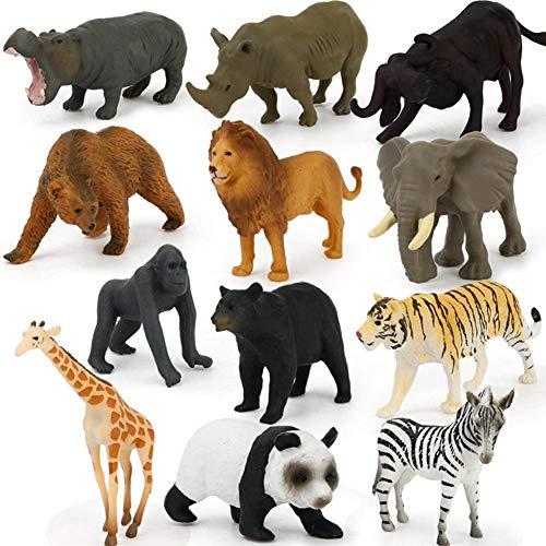 Wintesty 12 Stück Mini Dschungel Tiere Spielzeug Set, Realistische Wild Vinyl Kunststoff Tier Lernen Gastgeschenke Spielzeug Für Jungen Mädchen Kinder Kleinkinder Wald Kleintiere Spielset useful