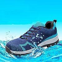 ZYFXZ Zapatos de Seguridad Calzado de Seguridad para Hombre, Desodorante, Transpirable, Puntera de