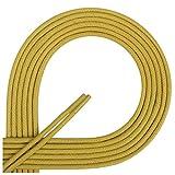 Di Ficchiano Lacets ciré ronds premium Ø 2–3mm, longueur 45–120cm, indéchirable 60 cm jaune moutarde