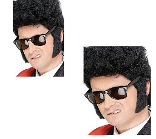 Erwachsene Teddy Boy 50's Rock n Roll Elvis Wolverine Fancy Kleid Koteletten Zubehör (Kostüm Elvis Kid)