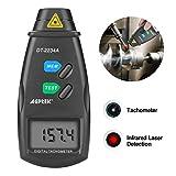 FITNATE 20713 Digitales Tachometer U/min mit Non-Contact-Foto, -, 99,999 RPM Genauigkeit, 2 | inklusive Batterien, 4 Stück Reflektierendes Klebeband, zur Anleitung