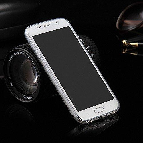 König-Shop Full TPU Case für Samsung Galaxy E7 Handy-Hülle Schutz-Cover Bumper Schale Transparent Cover 360