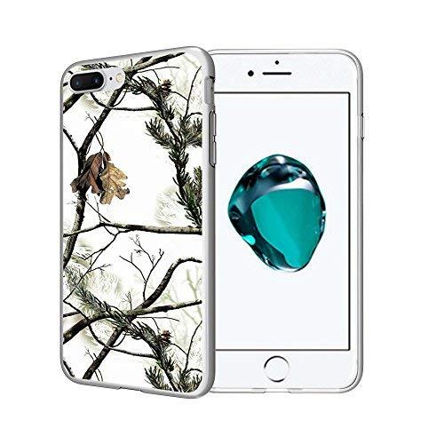 untouchble Schutzhülle für Apple iPhone 8Plus Schutzhülle, iPhone 8Plus (14cm) Klar TPU Design Fall [Flex Max] TPU Slim Flexible Gel Case Designs Bumper Cover, Snow Hunt Camo -