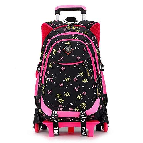 XHHWZB Zaino per bambini Trolley Bag Zaino per bambini Zaino per bambini Zaino per bambini con ruote (Colore : NERO)