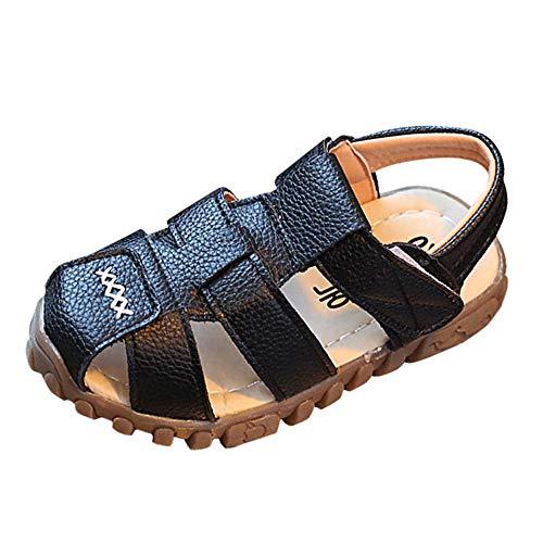 SEWORLD Baby Schuhe Kinder Hausschuhe Mädchen Jungs Schuhe Sandalen Strand Sandalen Schuh Freizeitschuhe Sneaker Weiche Sohle Kleinkind Einzelne Schuhe Kinderschuhe(Schwarz,27 EU)