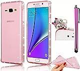 Vandot 3 in 1 Funda Carcasa Case silicona TPU protectora Para Samsung Galaxy Grand Prime G530 Case Cover Transparente Funda Carcasa Bumper con Absorci
