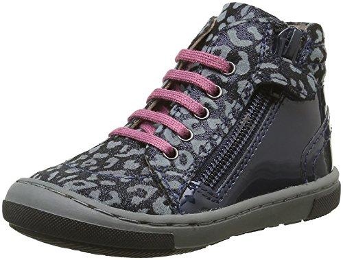 Mod8 Irene 2, Chaussures Premiers Pas Bébé Fille, Bleu (Marine Imprimé), 21 EU