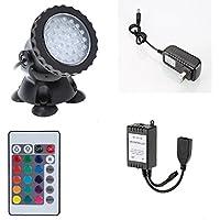 Acquario Spot Light sott' acqua lampada RGB LED ACQUARIO luce proiettore con telecomando