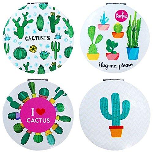 DISOK - Espejo Cactus Redondo Precio Unitario - Espejos para Detalles de Bodas, Comuniones y Bautizos...