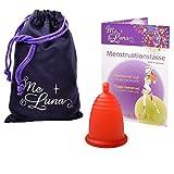 Me Luna Menstrual Taza Classic, Bola, color rojo, tamaño M