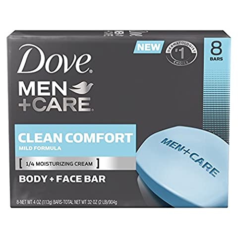 Dove Men+Care Bar, Clean Comfort 4 ounce, 8 Bar by Dove