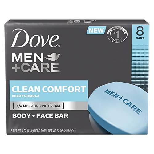 Dove Men+Care Bar, Clean Comfort 4 ounce, 8 Bar by Dove -