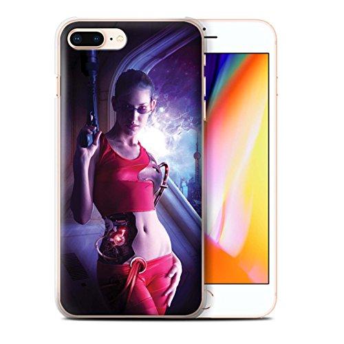 Offiziell Elena Dudina Hülle / Case für Apple iPhone 8 Plus / Blind Klinge Muster / Superheldin Kollektion Cyborg