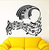 Hwhz 68 X 68 Cm Wandaufkleber Vinyl Aufkleber Klavier Noten Modern Style Room Decor
