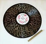 Herzl-Manufaktur Gästebuch rund Schallplatte inkl. Stift Gold Wedding Vinyl Erinnerungsalbum Gästebücher Hochzeit (Stift Gold)