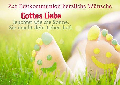 Kommunionkarte Zur Erstkommunion herzliche... (6 Stck)