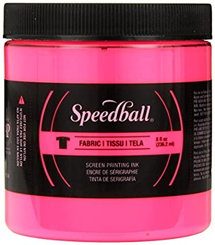 Speedball Art Products Fabric Screen Printing Ink Fluorescent 8 oz Hot Pink