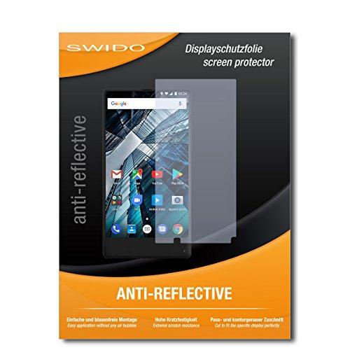 SWIDO Bildschirmschutz für Archos Sense 55S [4 Stück] Anti-Reflex MATT Entspiegelnd, Hoher Härtegrad, Schutz vor Kratzer/Glasfolie, Schutzfolie, Bildschirmschutzfolie, Panzerglas Folie