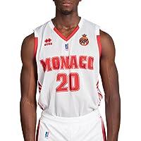 Errea As Monaco Réplica Domicile 2017-2018 Maillot de Basketball Homme