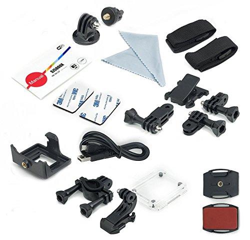 QUMOX SJ5000X Elite 2K 4K 30fps 720p 120fps NTK96660 12M Exmor IMX078cqk Sensor Gyro-Action-Kamera WiFi HD Sports DV Silber - 6