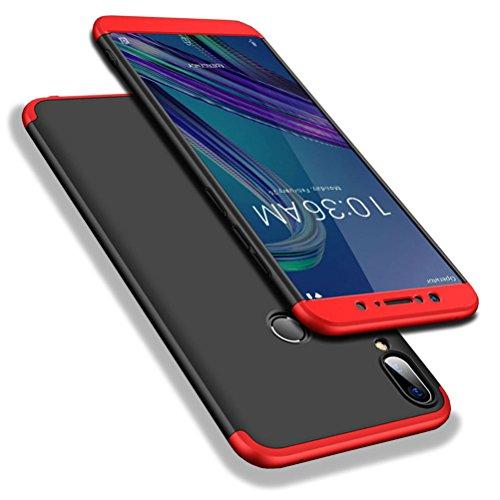 """WindCase Zenfone Max Pro M1 ZB601KL Custodia, 360 Gradi Full Body Protettiva Caso 3 in 1 Duro PC Antigraffio Copertura per Asus Zenfone Max Pro M1 ZB601KL 5.99"""" Nero Rouge + Pellicola Vetro Temperato"""