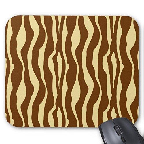 Braun und Camel Tan Zebra Print Streifen Muster Custom Rechteck Maus Pad Büro Gaming Mousepad Design