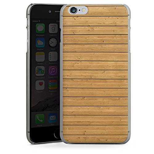 Apple iPhone X Silikon Hülle Case Schutzhülle Holzwand Holz Look Muster Hard Case anthrazit-klar