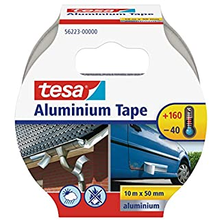 Tesa Cinta de Aluminio, Autoadhesivo, 10m x 50mm, Plata