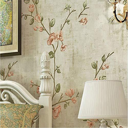 Carta Da Parati Murale Fotomurali American Pastoral Luxury Italian Fabrics  Vintage 3D Floral Wall Rotoli Di Carta Da Parati Per Soggiorno Decorazione