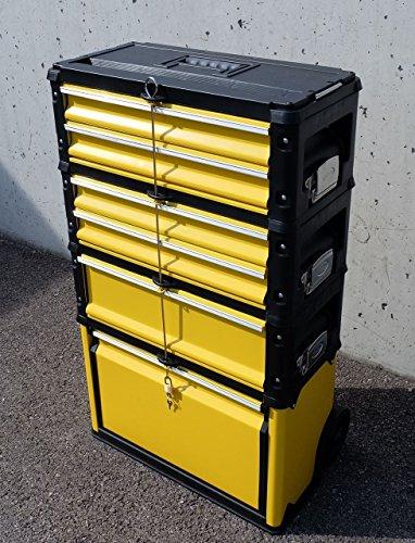 METALL Werkzeugtrolley Werkzeugkasten Werkstattwagen XXL Type 305/BBCD von AS-S - 3
