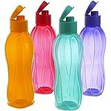 Tupperware 500Ml Fliptop Water Bottles, Set Of 4, New Multi Colours