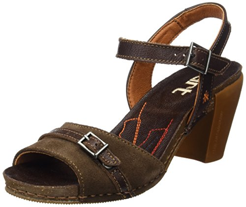 ART 0226 Memphis I Feel, Sandales à Bride à la Cheville Femme Marron (Brown)