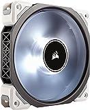 Corsair ML120 Pro Ventola a Levitazione Magnetica Premium, Illuminazione LED Bianco, ML Pro 120 mm, Confezione Singola, Bianco/LED