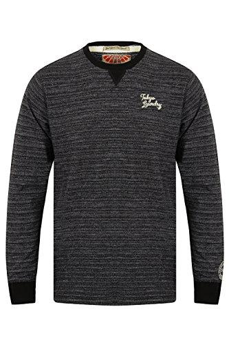 Tokyo Laundry Herren Blusen Langarmshirt Underwood - Charcoal Grey