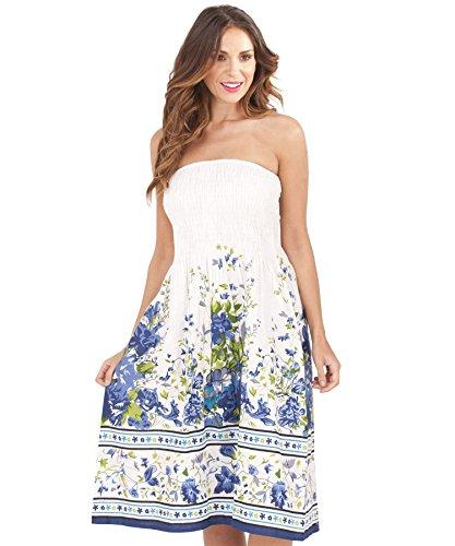 Martildo Fashion, Dames 3 en 1 Coton Vacances Été Robe Blue 3