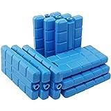 com-four 9-Packs de Froid, 200 ML chacun, Bleu - pour Le Sac Isotherme (09 pièces - 200ml Bleu)