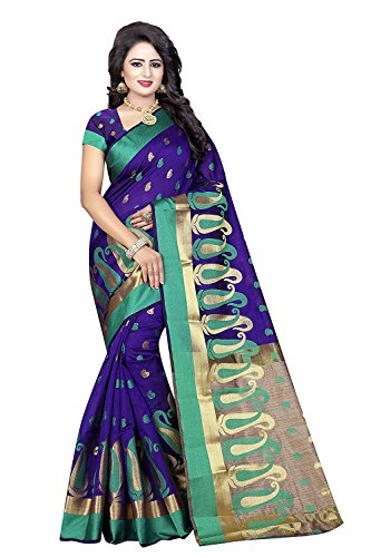 Kunish Fashion Presents Latest Fancy New Arrival Banarasi silk Poly Cotton Purple...