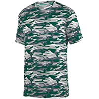 Augusta Sportswear Boys' Mod Camo Wicking Tee S Dark Green Mod