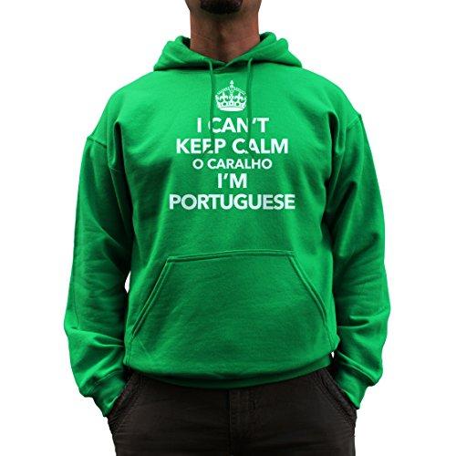 Nutees I Can't Keep Calm O Caralho I'm Portuguese Unisex Kapuzenpullover - Irish Grün XX-Large