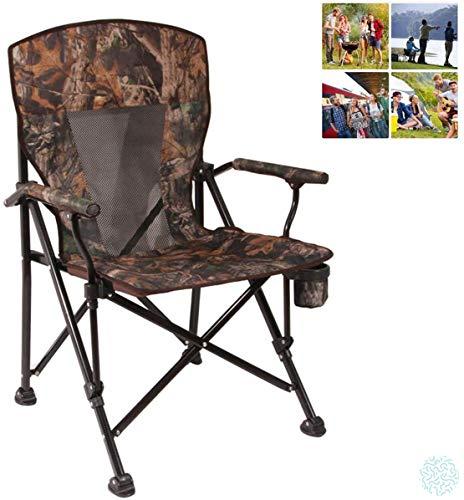 Silla de Camping Plegable CFJJOAT, Silla de Playa Plegable, Respaldo Plegable, sillón...