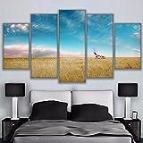 HD gedruckt Leinwand Bilder Poster Wohnzimmer Home Decor 5 Stück Dick das Wachstum des Grases Breaking Bad Rv Malerei Wand Kunst, 30 x 50 30 x 70 30 x 80 cm, Rahmen