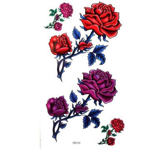 Étanches roses de tatouages faux charme sexy