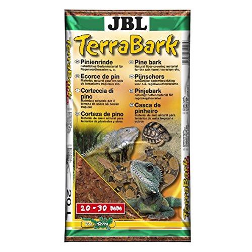 JBL 71023 Bodensubstrat, für Wald und Regenwaldterrarien, Pinienrinde, 20 - 30 mm TerraBark, 20 l
